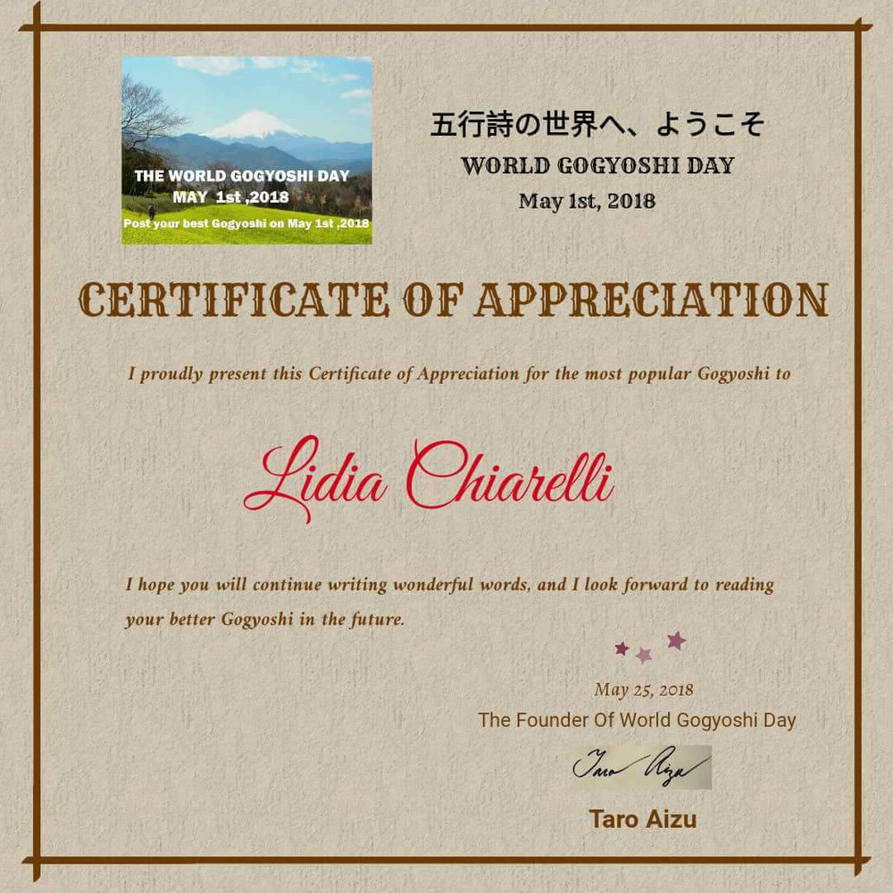 World Gogyoshi Day - May 1 2018
