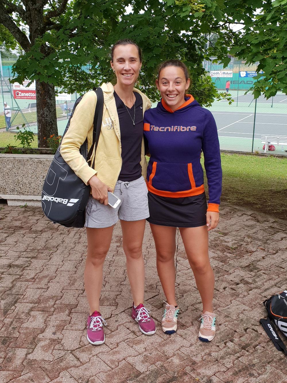 Match au sommet ce matin entre Jojo et Charlotte(ancienne joueuse d Azur)