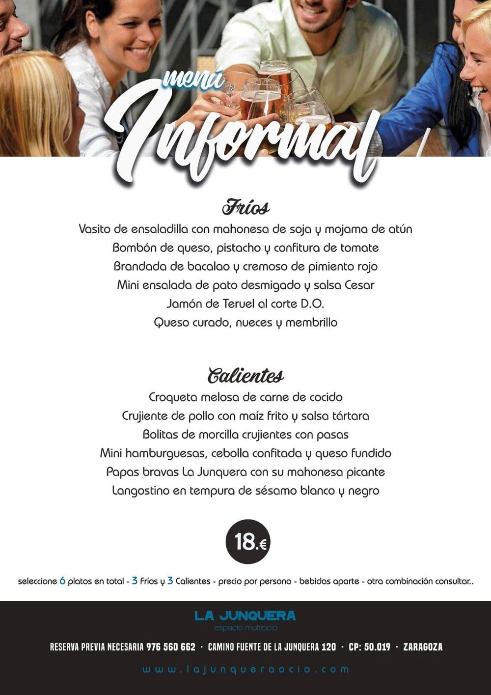 Menu informal - La Junquera