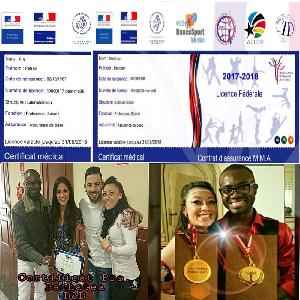 License FFD et médaille LBF