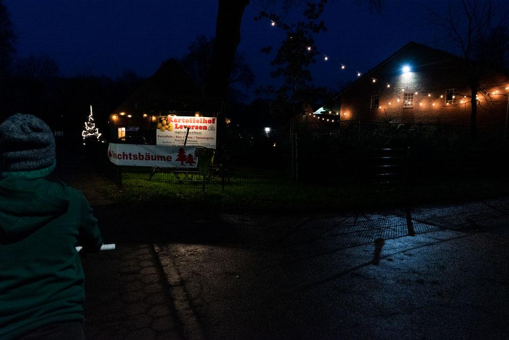 Fotoprojekt Dezember Momente Tannenbaumkauf auf dem Kartoffelhof Leversen