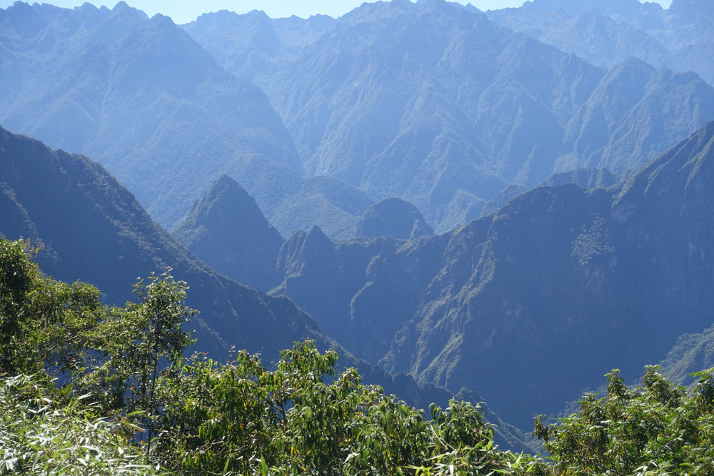 Machu Picchu vue de derrière Salkantay trek