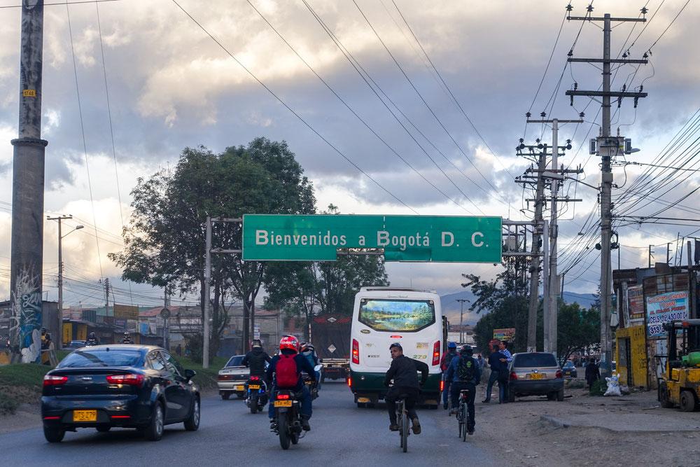 Arrivee a Bogota