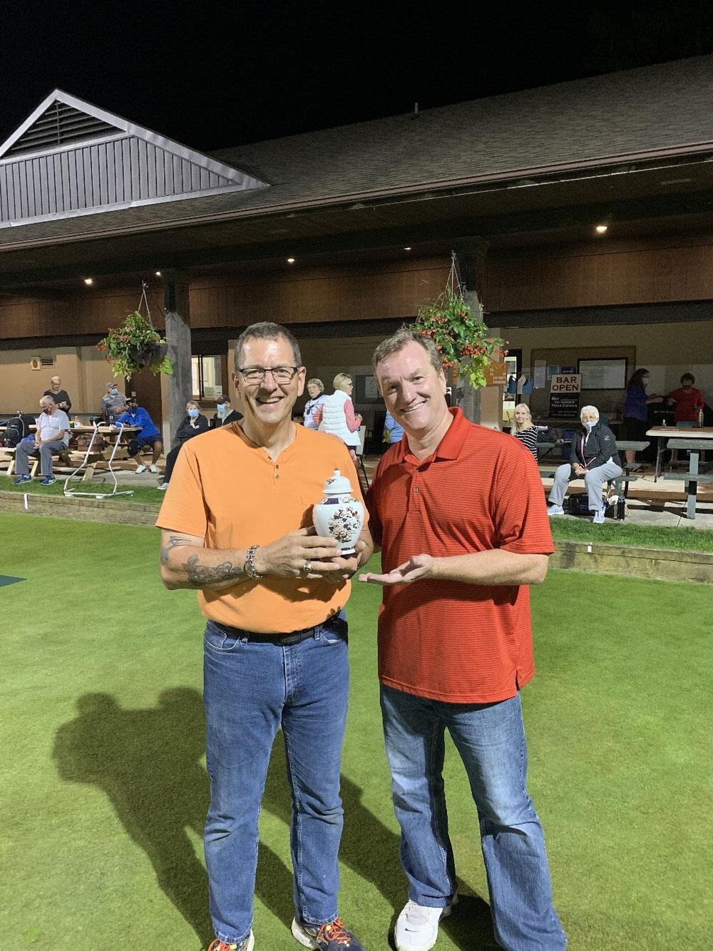 Tournament winners John Hunter and Mark Lucier.