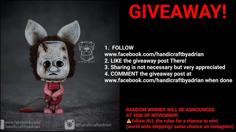 Giveaway on facebook