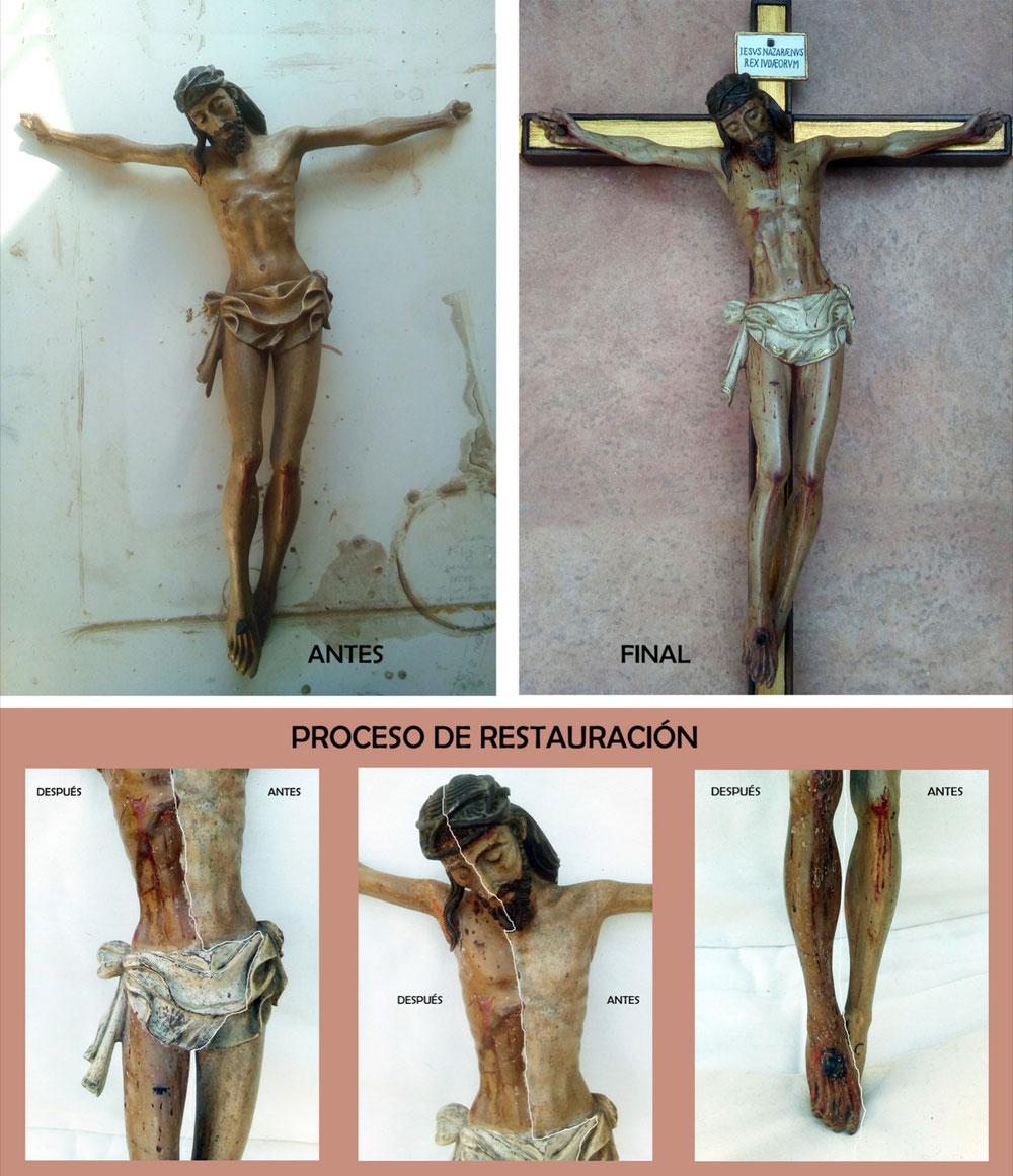 Restauración de Crucificado gótico-renacentista