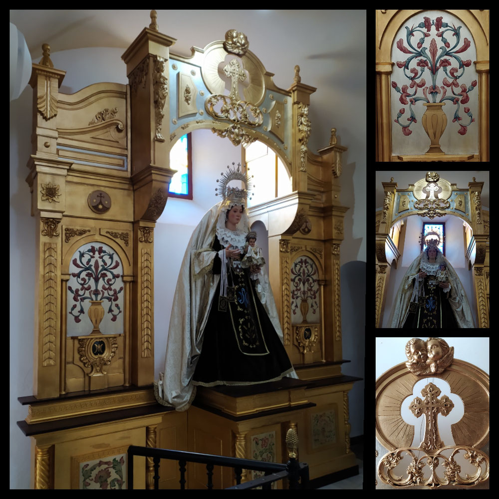 Retablo para la Virgen del Carmen. El Pedroso (Sevilla)