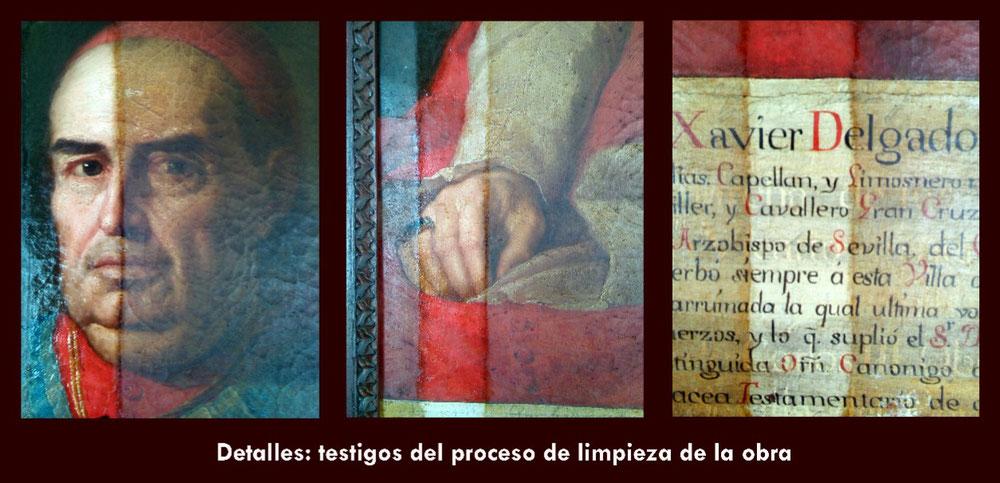 Det. restauración óleo Cardenal Delgado