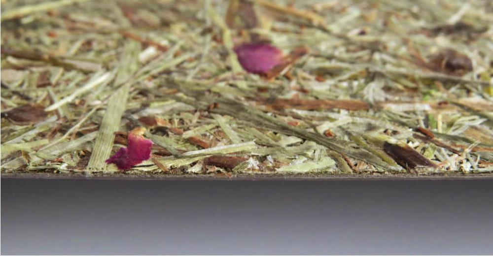 Organoide Dekorbeschichtung - Almheu & Rosenblüten