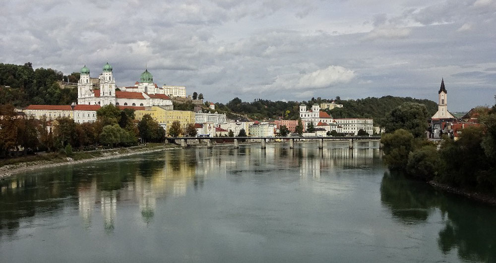 Passau von der Innbrücke aus