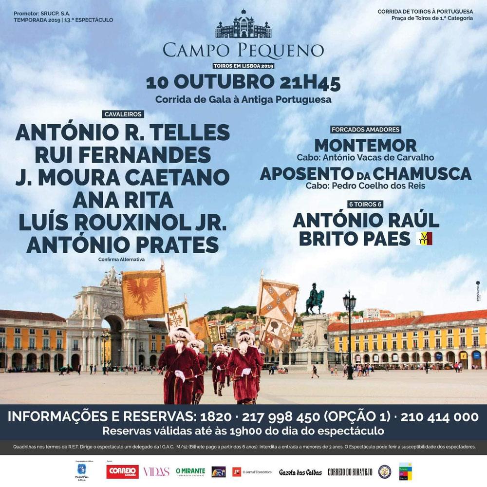 Corrida de Gala à Antiga Portuguesa Dia 10 - Campo Pequeno Lisboa