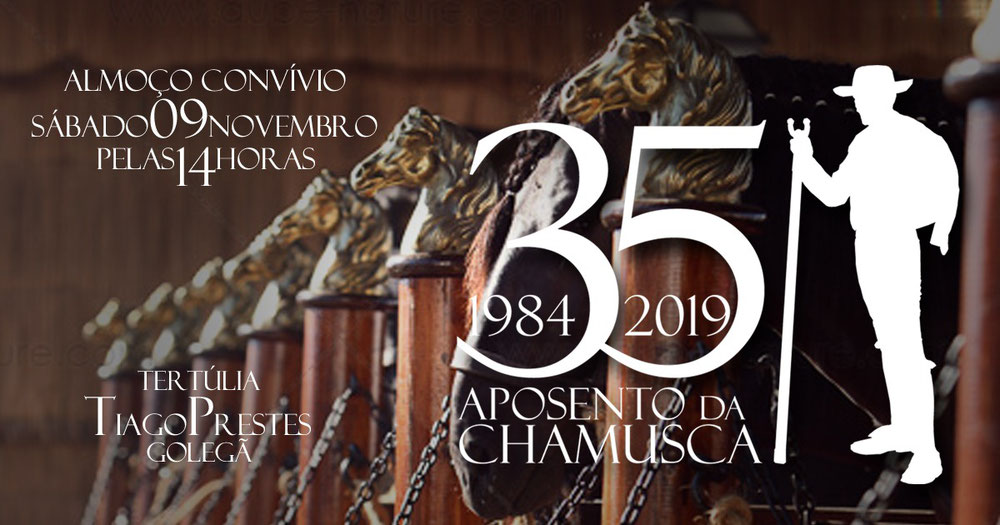 """Almoço Convívio Tertúlia """"Tiago Prestes""""  Sábado Dia 9 pelas 14h na XLIV Feira Nacional Do Cavalo - Golegã"""