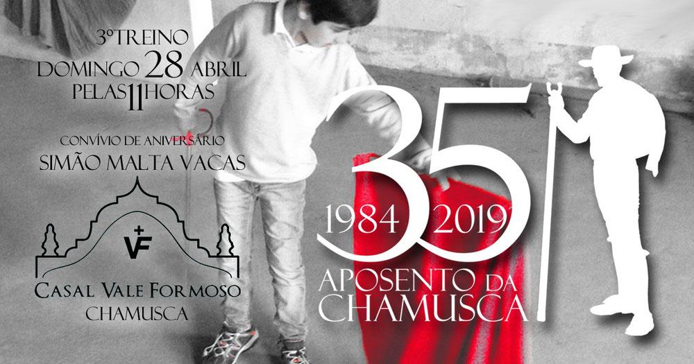 GFAAC 3°Treino da Temporada com Convívio de Aniversário de Simão Malta Vacas, filho do Forcado Antigo Pedro Malta Vacas 28 Abril - Chamusca.