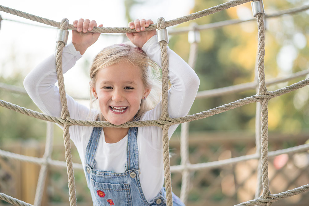 Foto von einem lachendes Mädchen