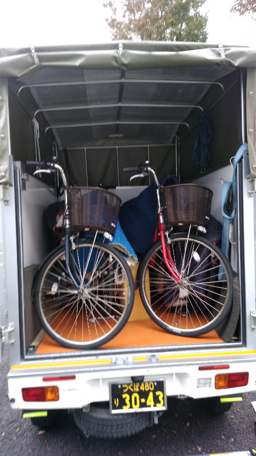 茨城県つくば市~東京都調布市へ電動自転車4台の配送