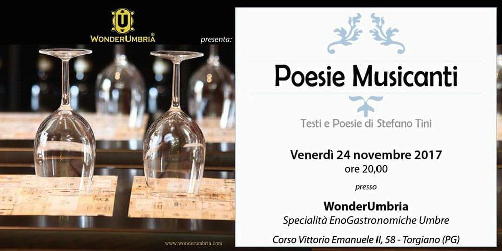 Poesie Musicanti - 24 novembre 2017