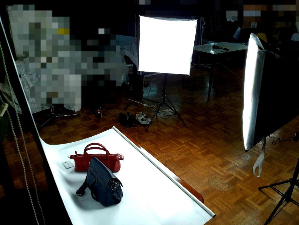 撮影専用ライトとスクリーン