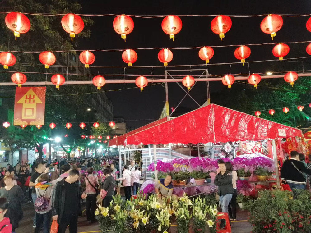 Liwan Lu at Chinese New Year Flower Street