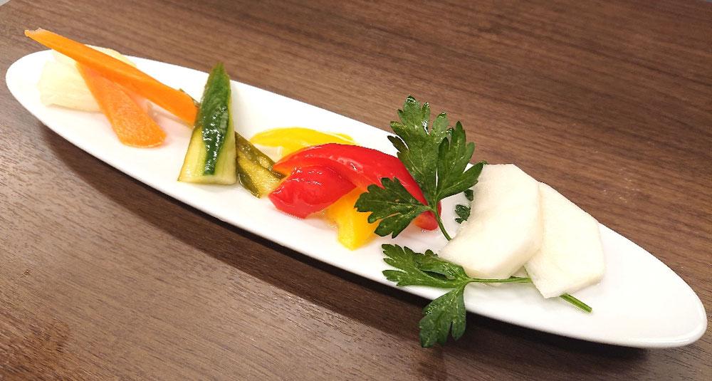 新メニュー・カラフル野菜のピクルス♥️