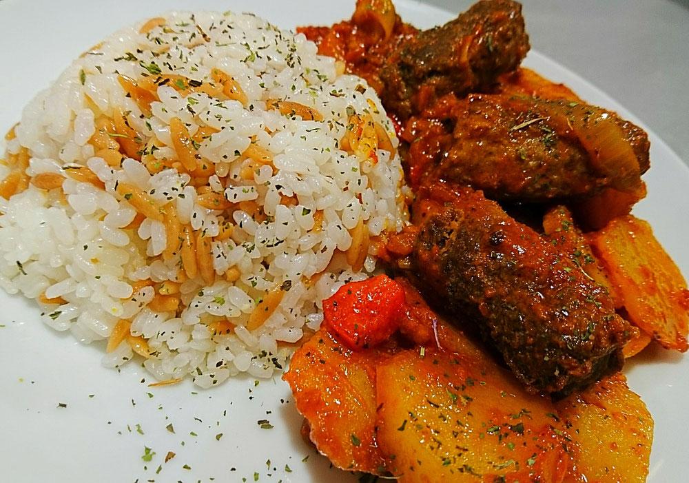 Ofen Kartoffel Cevapcici mit Reis - Emi´s Food Blog