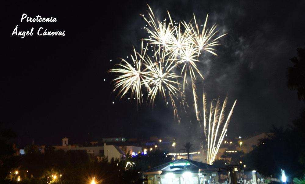 Fuegos Artificiales en las Fiestas Patronales de Lorquí.