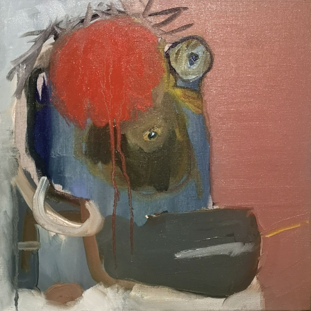 'Something we saw in the mirror' - Oil on linen canvas - 40x40cm - 2021