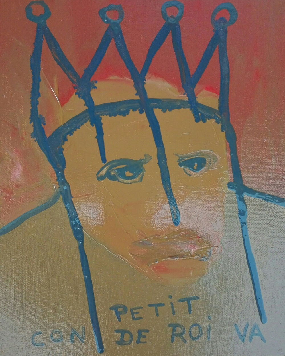 SOLD OUT - 'Petit con de roi' - oil on linen canvas - 2020 - 22x27cm