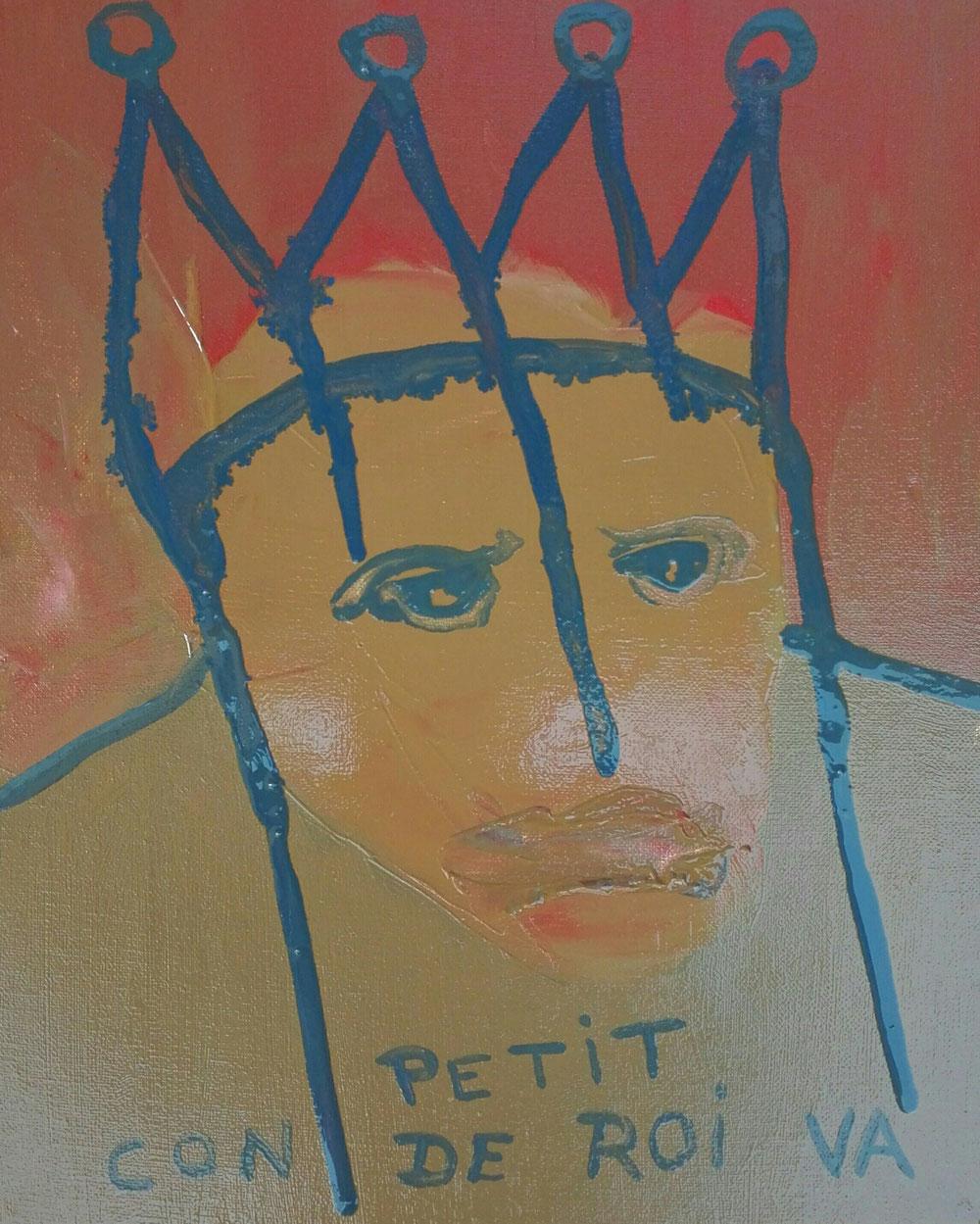 SOLD - 'Petit con de roi' - oil on linen canvas - 2020 - 22x27cm