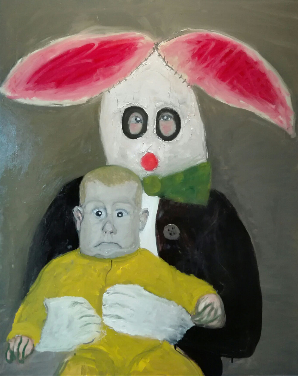 «HAPPY EASTER» - Oil on linen canvas - 2020 - 92x73cm