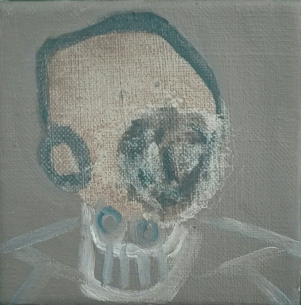 'John' - oil on linen canvas - 12x12cm - 2020