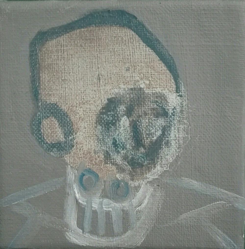 SOLD - 'John' - oil on linen canvas - 12x12cm - 2020