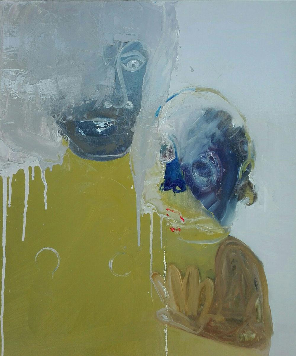 SOLD -  'Stop it' - oil on linen canvas - 2020 - 65x54 cm