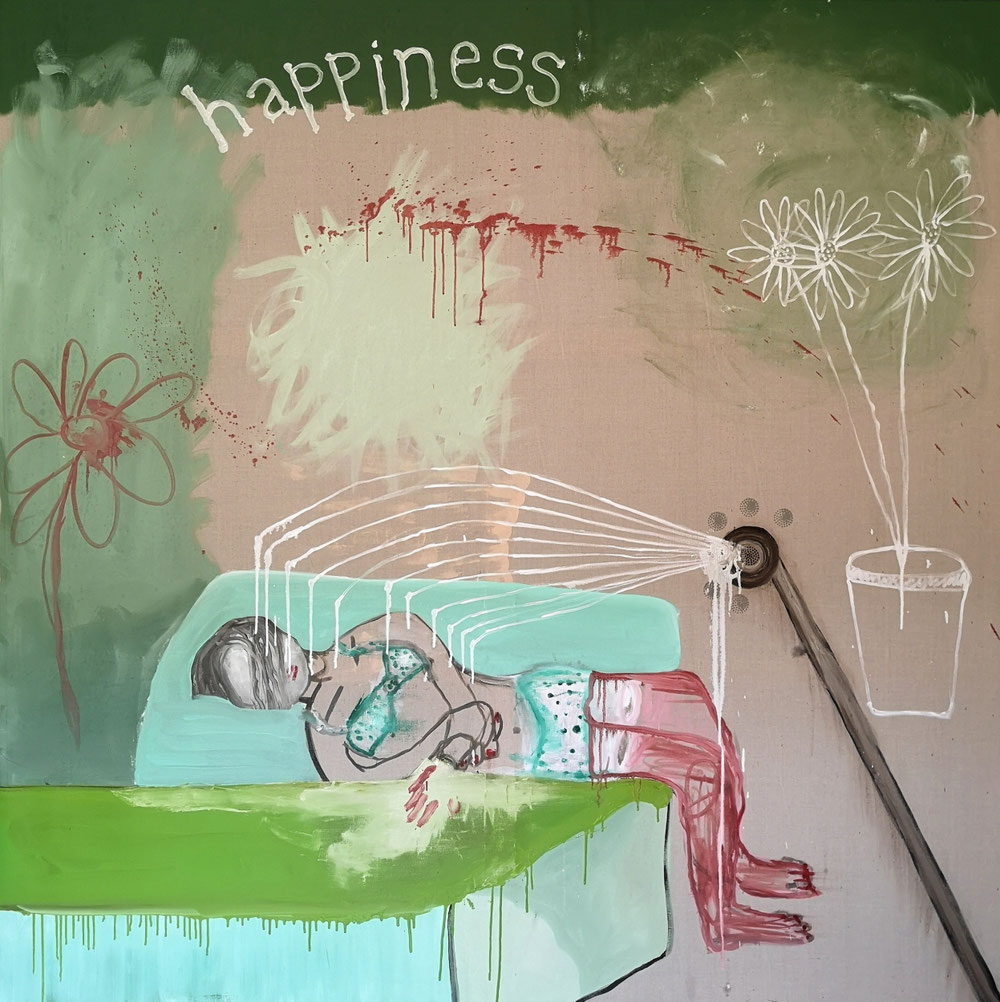 'Happiness' - Oil on linen canvas - 200x200cm - 2021