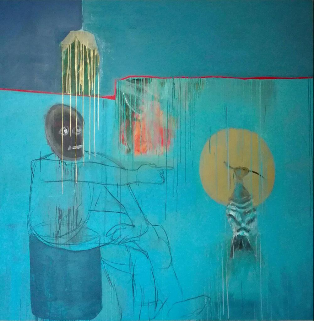 200x200cm, acrylic on linen canvas, 2020