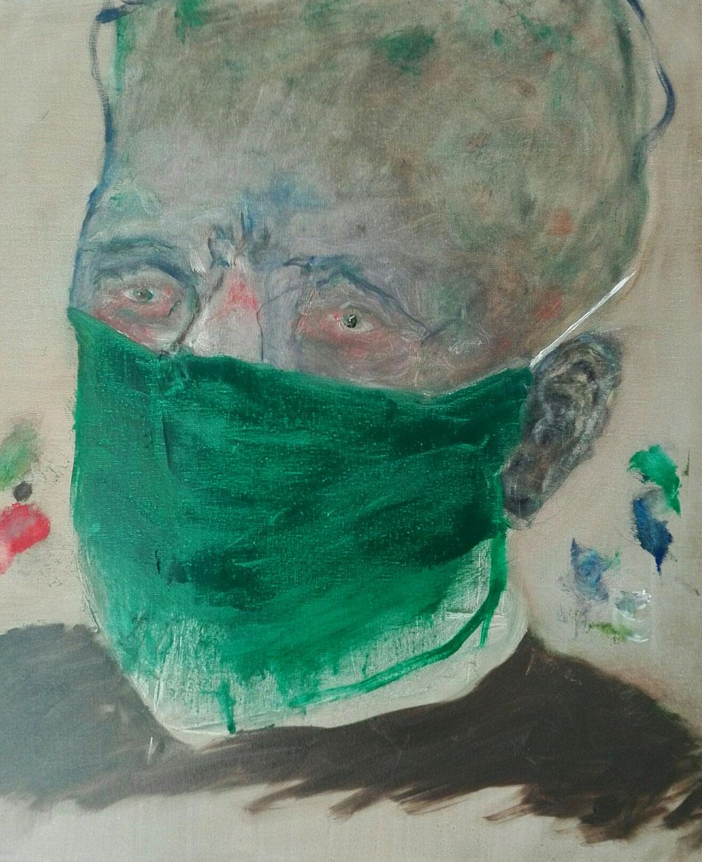 «EGON-19» - Oil on linen canvas - 2020 - 46x55cm