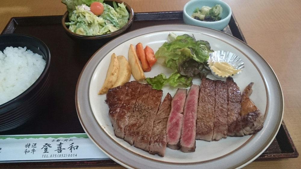 信州プレミアム牛肉 サーロインステーキがボリューム満点🍴😋