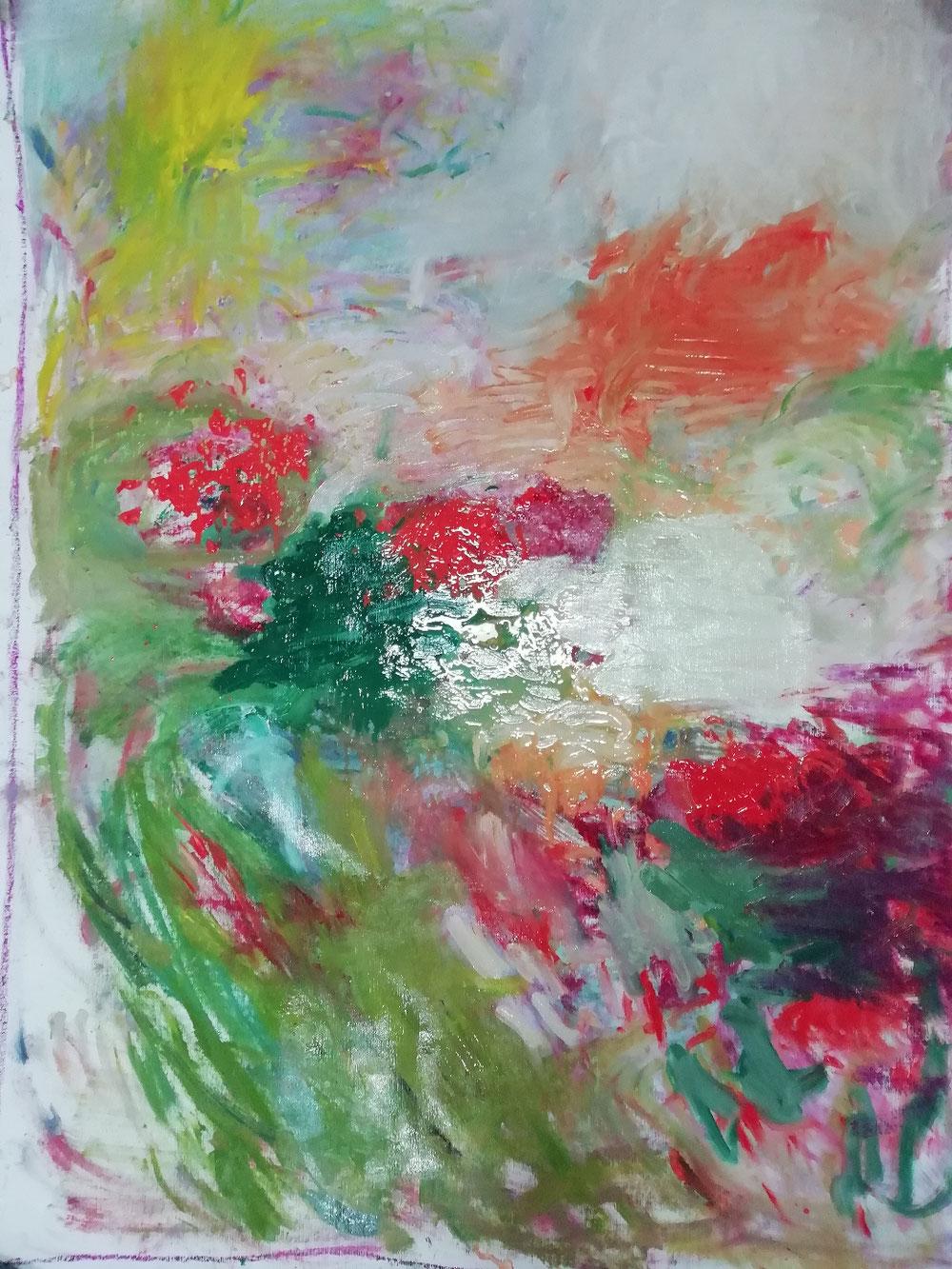 Le printemps huile sur toile 110 x 81