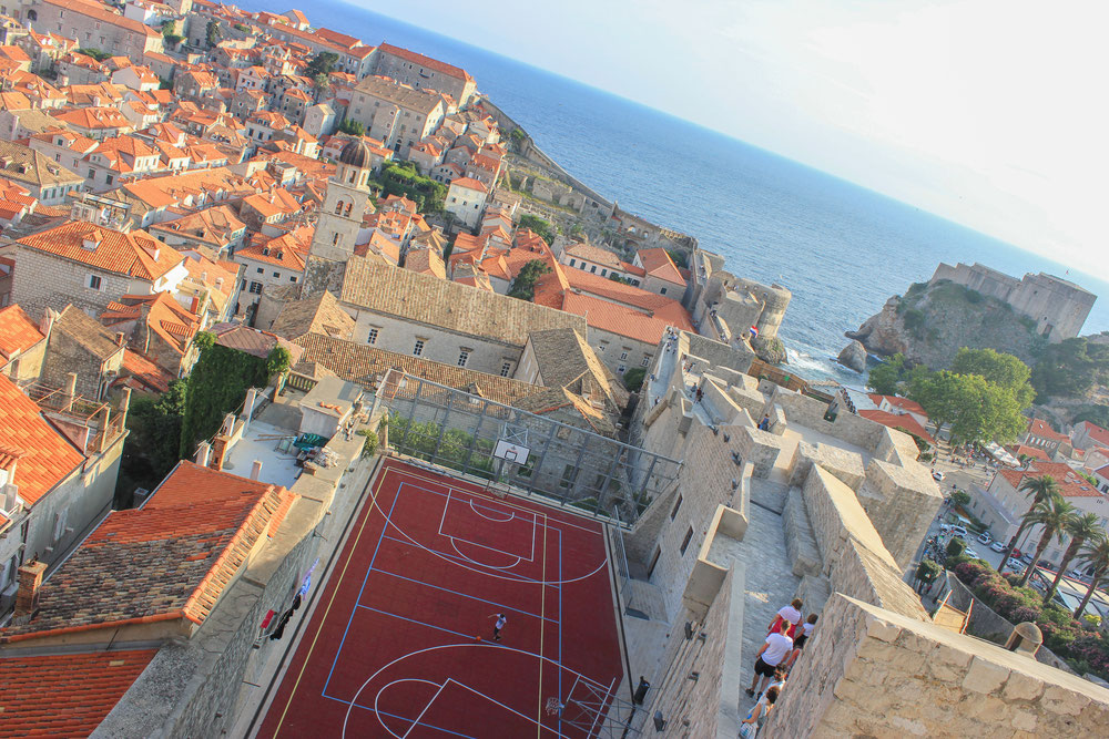 View townwalls Dubrovnik