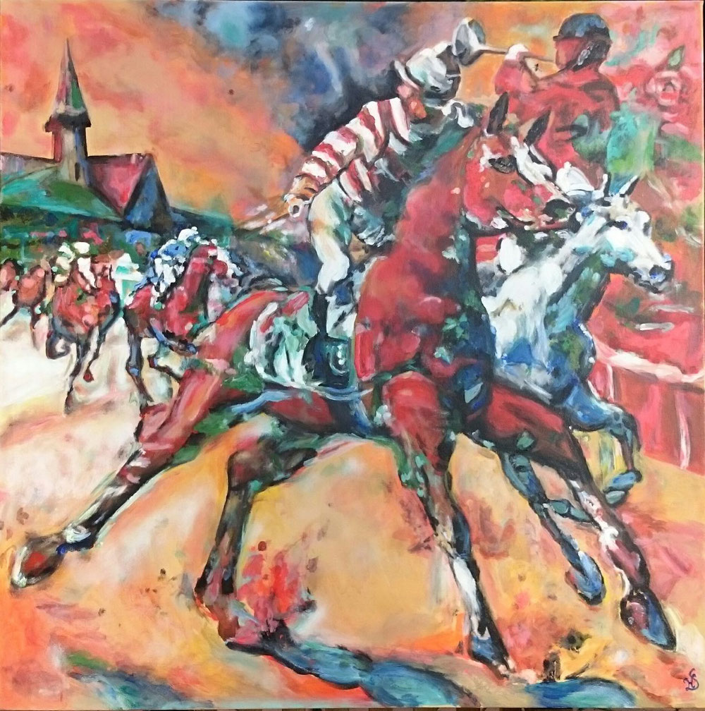 Kentucky Derby 100 x 100 cm