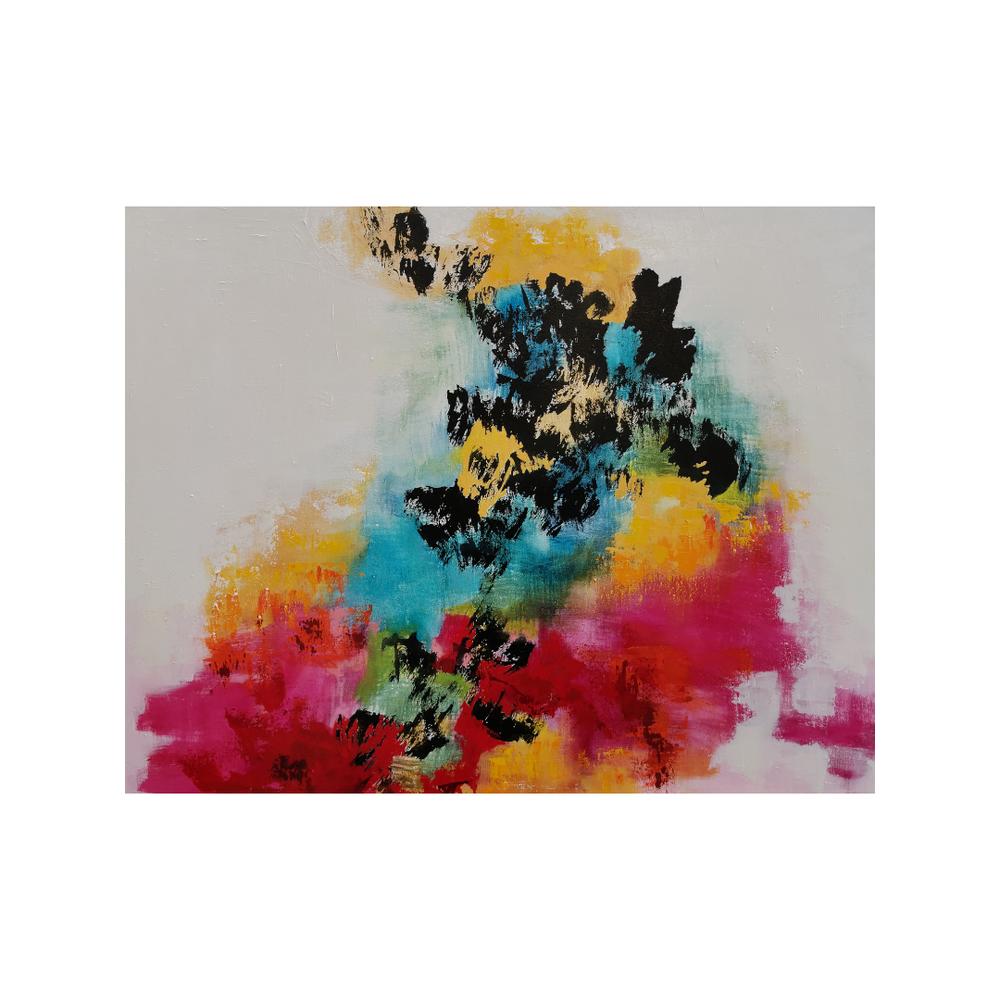 Elämänpolku, 70 x 90, mixed media on canvas