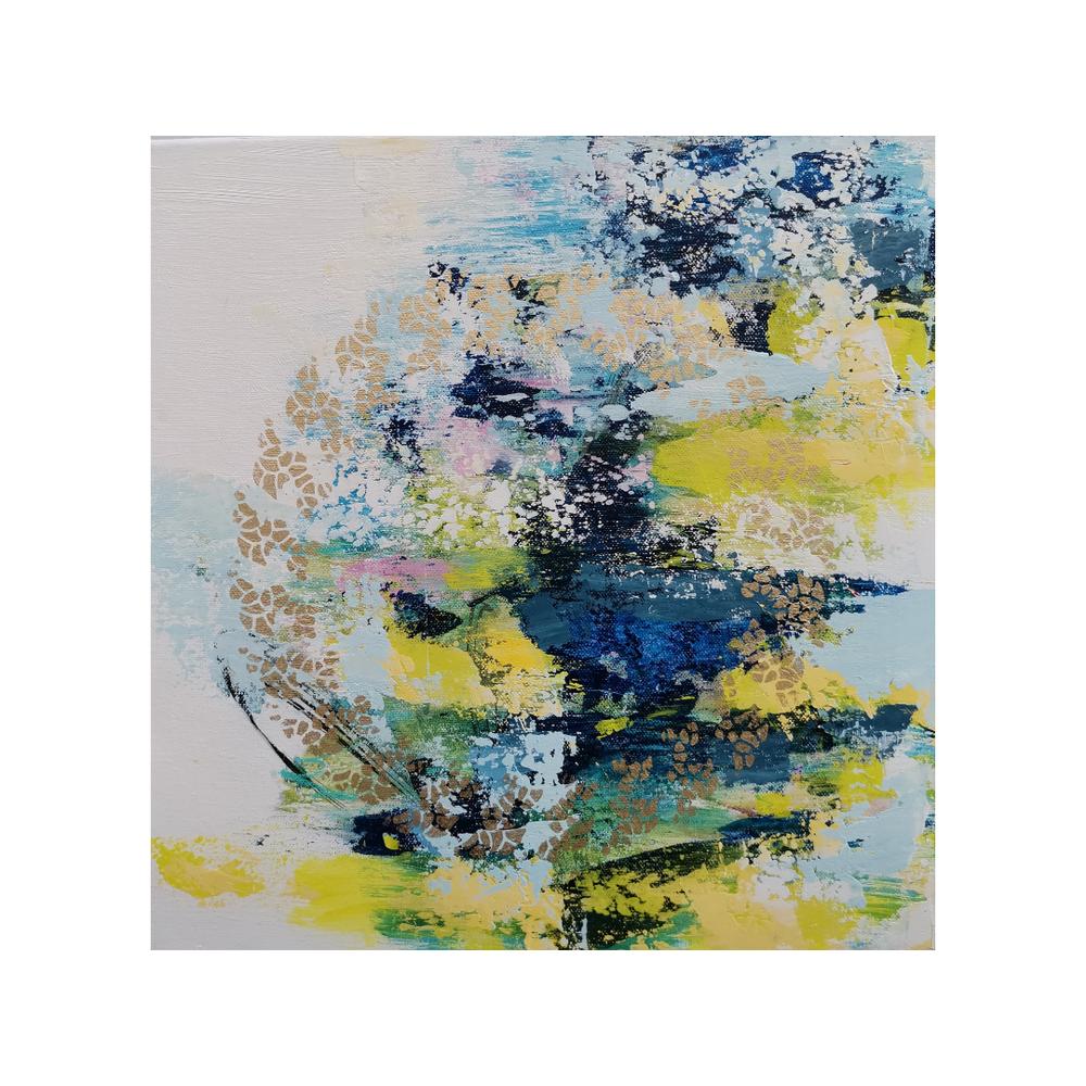 Täysikuun tyttäret II, 40 x 40, mixed media on canvas