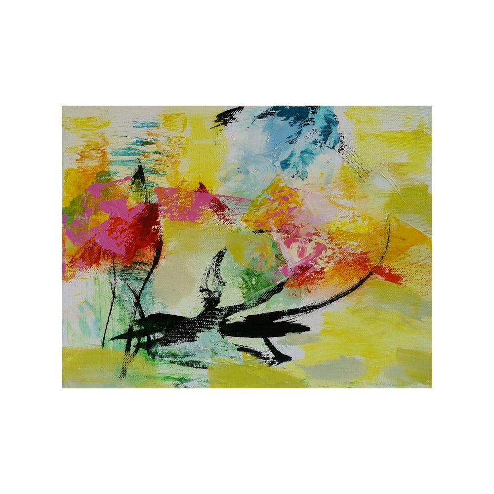 Kesäillan tuuli, 25 x 30, mixed media on canvas / SOLD