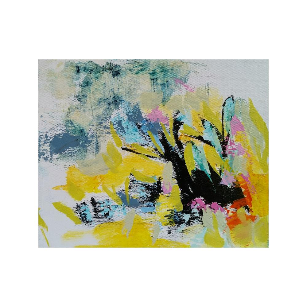 Sataa sataa ropisee, 25 x 30, mixed media on canvas