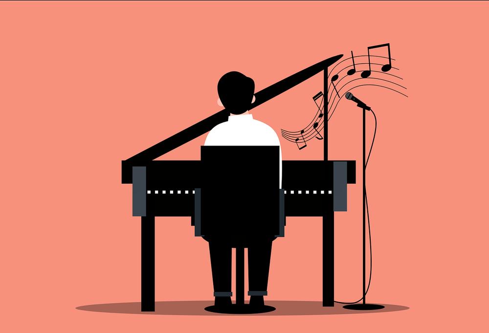 Le pianiste-accompagnateur ne joue pas. Il attend, précède, suggère et s'efface.