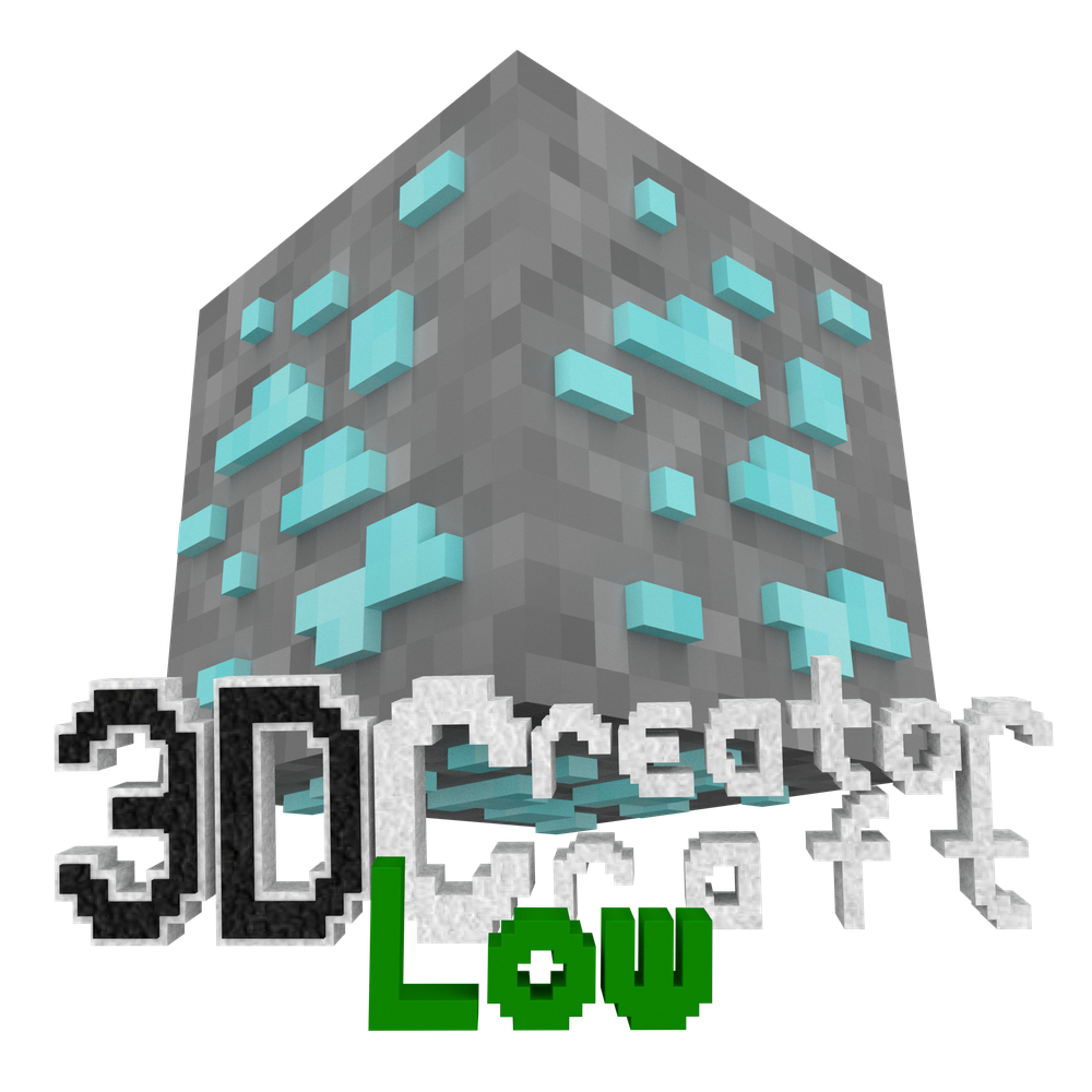 3D CreatorCraft Low Logo