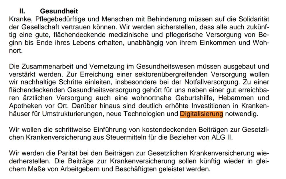 Ergebnispapier der Sondierungen CDU CSU SPD vom 12. Januar 2018