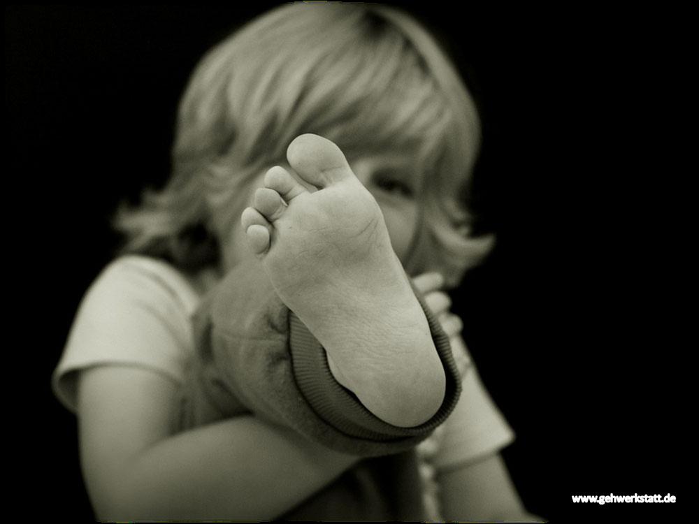 Gesunder Kinderfuß