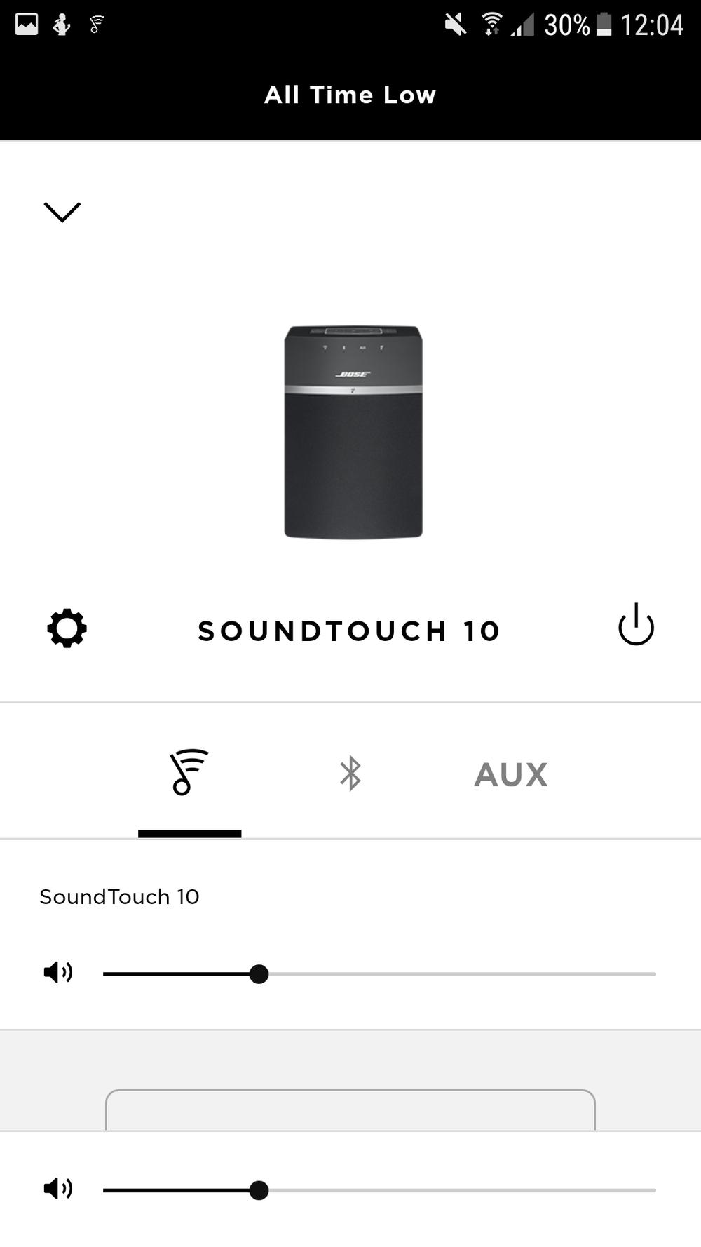 Oberfläche der App