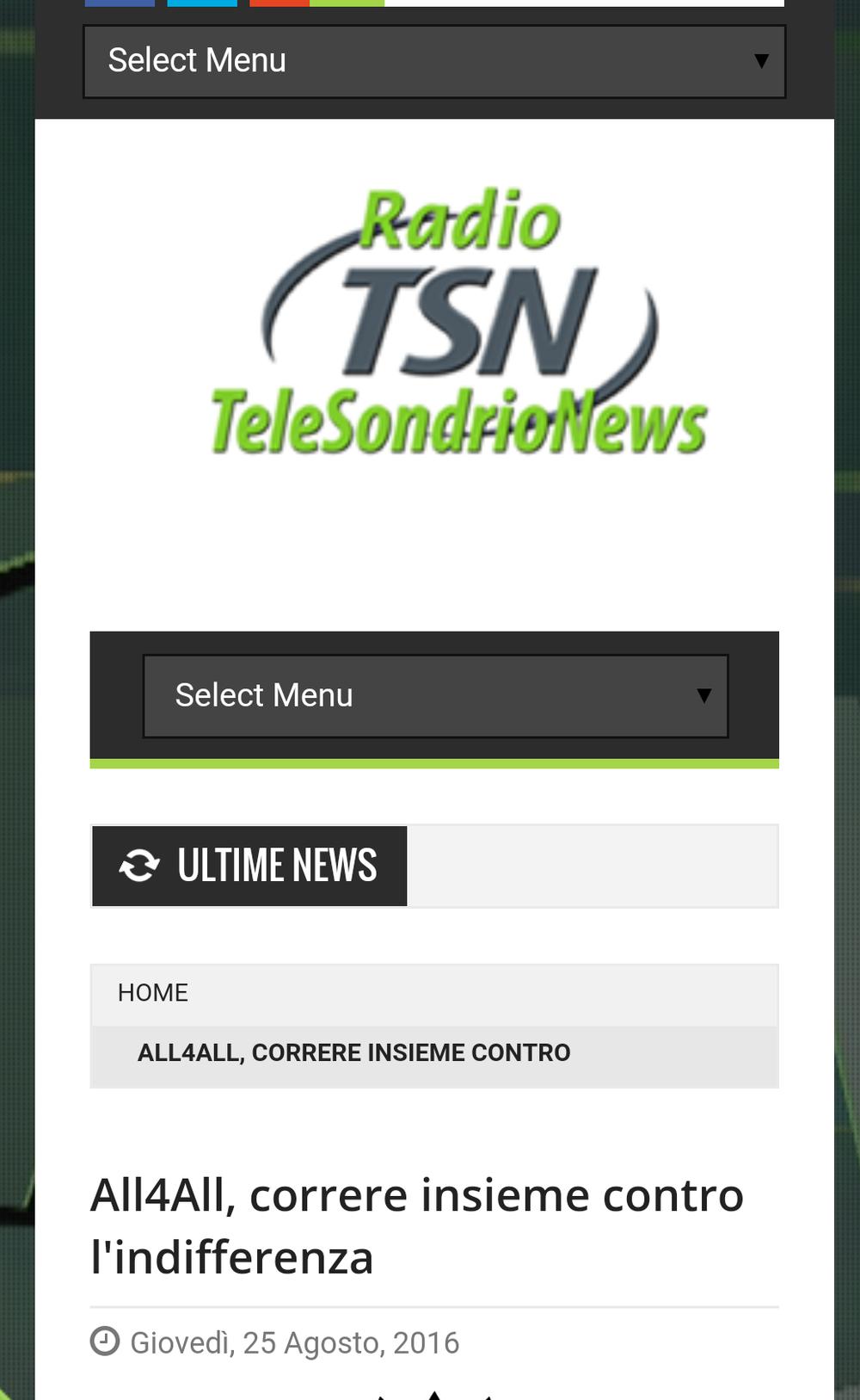Grazie TeleSondrio!!!