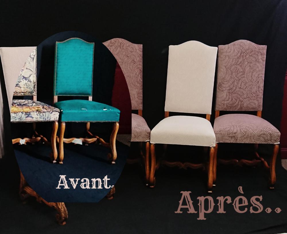 Rénovation de chaises Louis XIII.